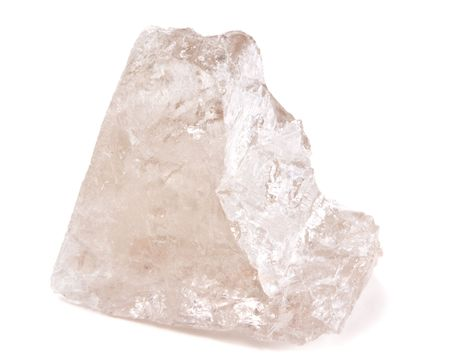 quartz crystal: Smoky Quartz mineral isolated on a white background