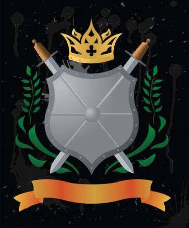 heralds: An heraldic shield.