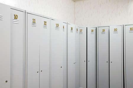 Abteile: Schlie�fach typischerweise auf ein Fitness-Center, High School, oder Fitnessraum.