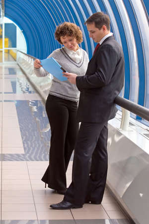 Man and woman business team Stock Photo - 3868646