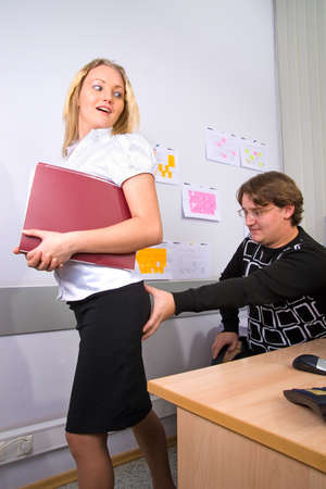 Sexual harassment of boss in relation to secretary photo
