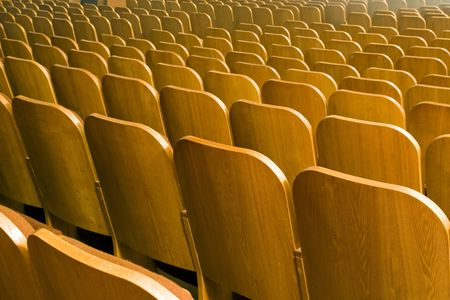 An empty old fashioned movie theater or conference hall. Stock Photo - 4666790