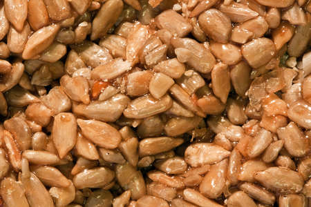 roughage: east sweeties from sunflower seeds close up Stock Photo
