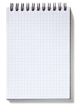 Small spiral notebook, isolated on white background photo