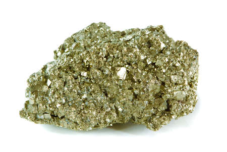 pyrite: Pyrite (Igneous Rock ) isolated on white background