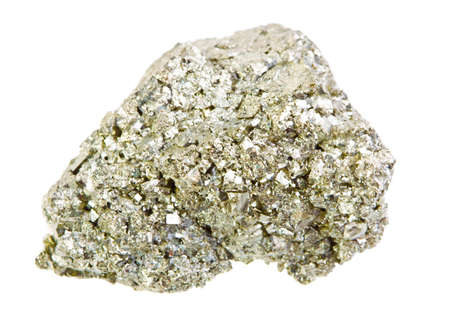 pyrite: Pyrite mineral isolated on a white background Stock Photo