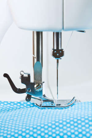 sewing machines: Close-up of sewing machine and fabric
