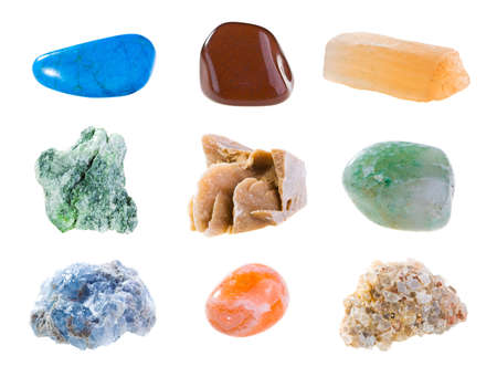 aragonite: Mineral collection isolated on a white background