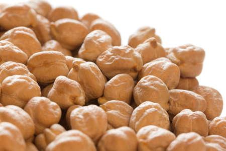 garbanzo bean: Chickpeas close-up in white background