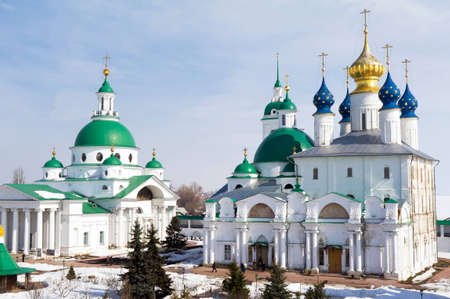 founded: Spaso Yakovlevsky Monastery in Rostov the Great. Russia. Founded in 1389 Stock Photo