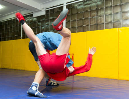 sambo: Competition for young wrestlers Sambo Stock Photo