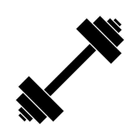 Barbell vector icon on a white background. Vector illustration. Illustration
