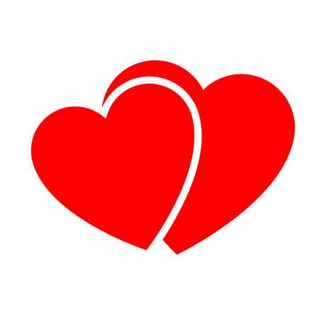 Dos corazones rojos