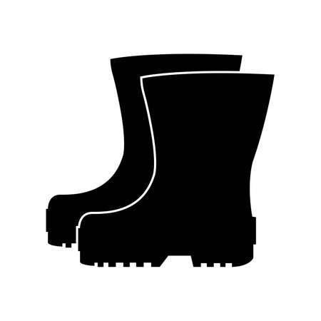 Rubber boots icon. Waterproof shoes. Vector illustration