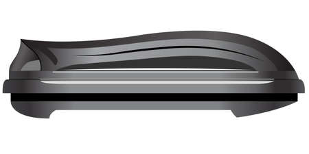 Car roof box. Side view. Vector illustration Çizim