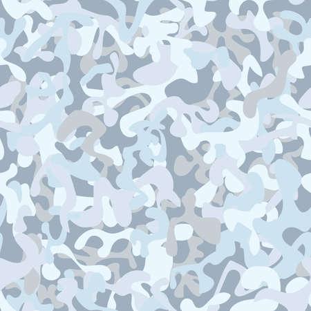 Naadloze sneeuwcamouflage voor leger, jacht en ander gebruik. Vector illustratie