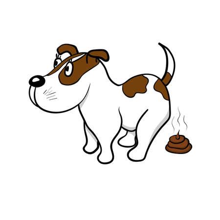 Le chien défèque illustration Banque d'images - 94297023