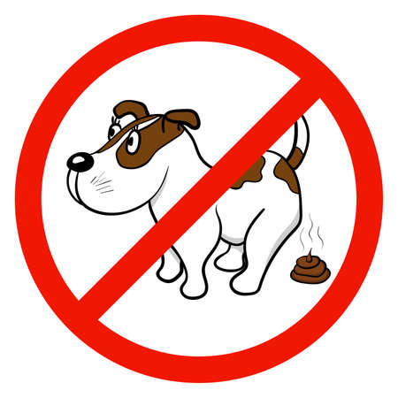 A sign that forbids walking with dogs. Vector illustration Illustration