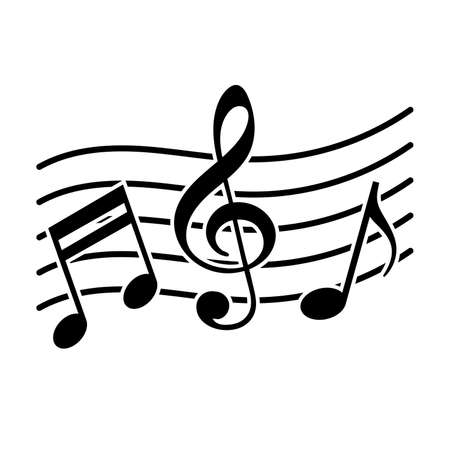 Signs of a musical notation. Vector illustration