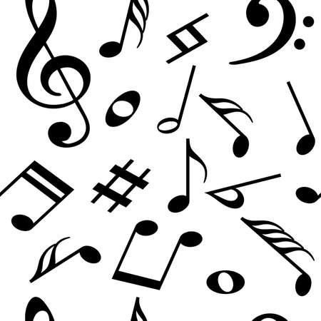 Seamless pattern with music notes. Vector illustration Illustration