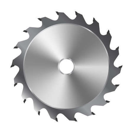 Saw blade Vector illustration Banco de Imagens - 100446833