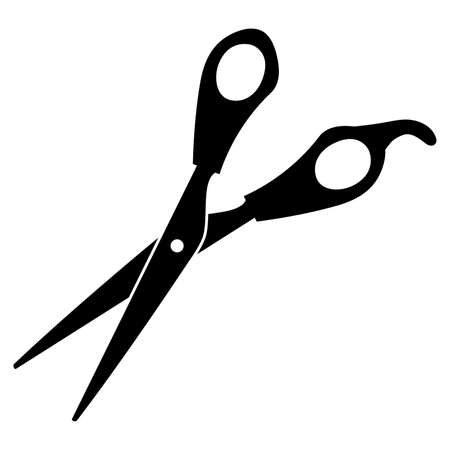 Scissors on a white background. Vector illustration.