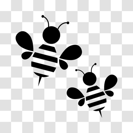 Honeybee. Icon for your design. Vector illustration Ilustração