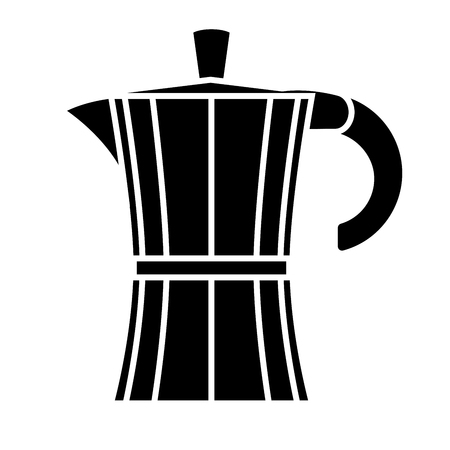 Geyser coffee maker on white background. Vector illustration