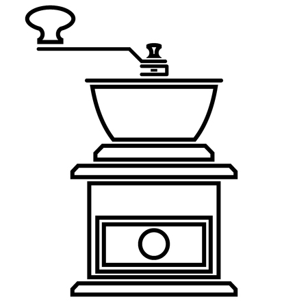Icon of coffee grinder on a white background