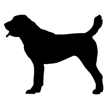 Central Asian Shepherd Dog. Vector illustration on white background Ilustrace