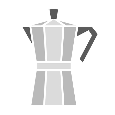 Italian coffee maker, moka pot. Vector illustration