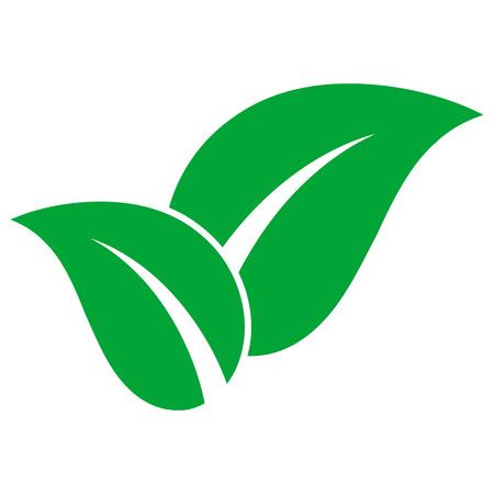 Green leaves on white background. Ilustracja