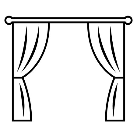 Curtains. Icon on white background.