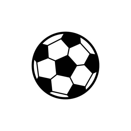 Soccer ball icon isolated on white background. Vector illustration Foto de archivo - 134847225