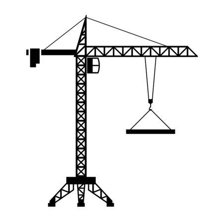Construction crane isolated on white background. Vector illustration Standard-Bild - 134847223