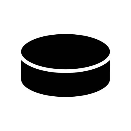 Hockey puck icon isolated on white background. Vector illustration