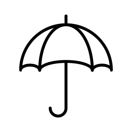 Umbrella icon isolated on white background. Vector illustration Ilustrace