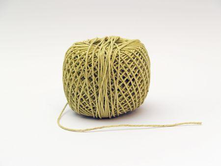 firmeza: bola de hilo de un hilo  Foto de archivo