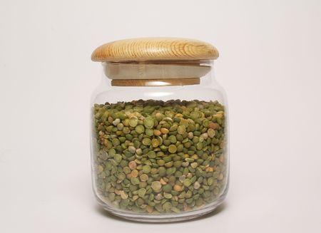 nutricion: Frasco de legumbres