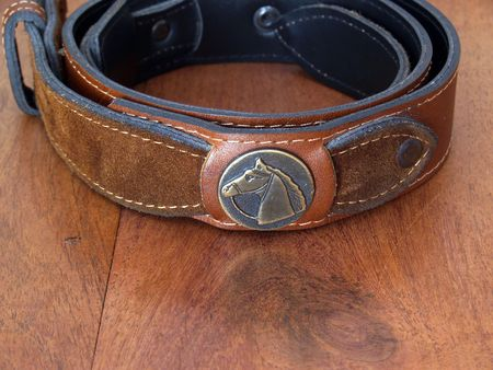 clasp: leather belt with clasp