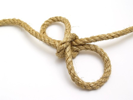 rope knot with isolated white background