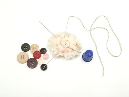 needle and thread sewing buttons Stock Photo - 4338450
