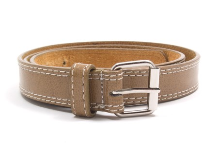 leather belt isolated on white background photo
