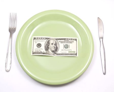 dollars a plate Stock Photo - 4362282