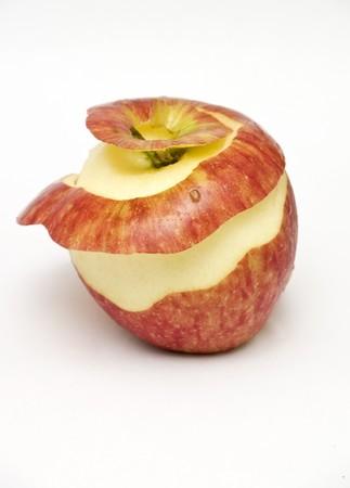 peeled: peeled apple