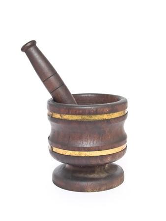 morter:     Wooden mortar