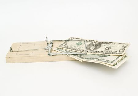 mouse trap: Mouse trap with dollars