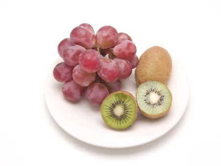 Kiwi And Grapes Stock Photo - 4675389