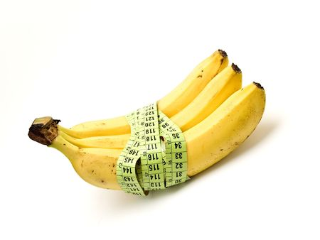 banana with a tape measure photo