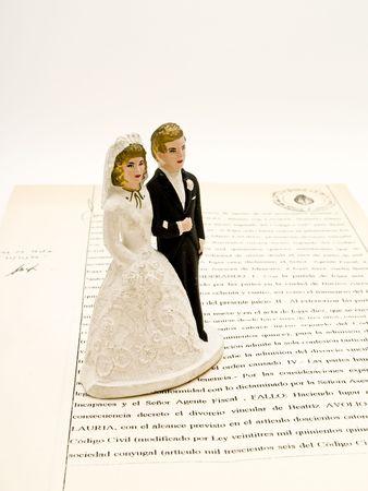 wedding cake figurines Stock Photo